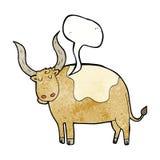 cartoon ox with speech bubble Royalty Free Stock Photos