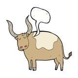 cartoon ox with speech bubble Stock Photos