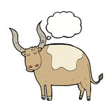 Cartoon ox with thought bubble Stock Photo