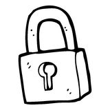 Cartoon padlock Royalty Free Stock Image