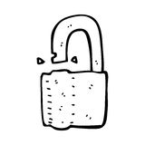 Cartoon padlock Stock Photography