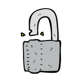 Cartoon padlock Royalty Free Stock Images