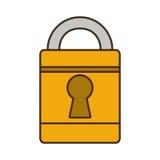 Cartoon padlock lock security money bank Royalty Free Stock Photography