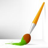 Cartoon paint brush Royalty Free Stock Image