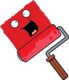 Cartoon Paint Roller Happy Royalty Free Stock Photo