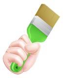 Cartoon Paintbrush Hand Royalty Free Stock Images