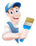 Cartoon Painter Decorator Stock Photos