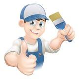 Cartoon painter decorator Royalty Free Stock Images