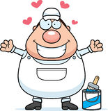 Cartoon Painter Hug Royalty Free Stock Image