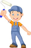 Cartoon painter waving hand Stock Photo