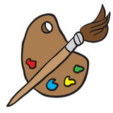 Cartoon painters palette Stock Image