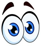 Cartoon pair of eyes Royalty Free Stock Photo