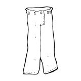 Cartoon pair of jeans stock illustration. Illustration of ...
