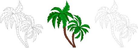 Cartoon palm tree. Dot to dot game for kids Stock Photos
