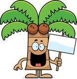 Cartoon Palm Tree Sign Royalty Free Stock Photos