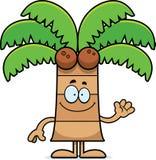 Cartoon Palm Tree Waving Royalty Free Stock Photography