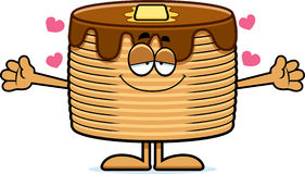 Cartoon Pancakes Hug Royalty Free Stock Images