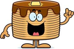 Cartoon Pancakes Idea Royalty Free Stock Photo