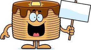 Cartoon Pancakes Sign Royalty Free Stock Photography