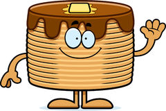 Cartoon Pancakes Waving Royalty Free Stock Photos