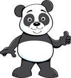 Cartoon panda bear giving thumbs up. Royalty Free Stock Images