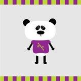 Cartoon panda boy card Royalty Free Stock Image