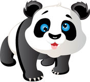 Cartoon Panda. Cute cartoon panda with a friendly expression Royalty Free Stock Image