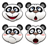 Cartoon panda face Royalty Free Stock Image