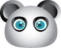 Cartoon Panda face. Cartoon Panda  face grey color Royalty Free Stock Photos