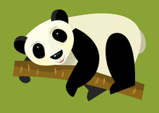 Cartoon panda - illustration for the children Royalty Free Stock Photo