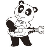 Cartoon panda playing a guitar Royalty Free Stock Photo