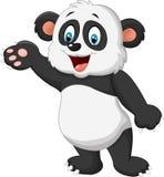 Cartoon panda presenting Royalty Free Stock Image