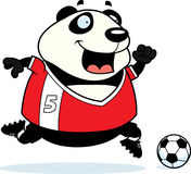 Cartoon Panda Soccer Stock Photo