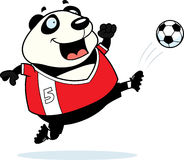 Cartoon Panda Soccer Kick Stock Images