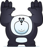 Cartoon Panda Surrender Royalty Free Stock Photos
