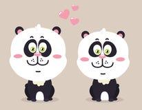 Cartoon pandas. Royalty Free Stock Photos