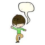 Cartoon panicking man with speech bubble Stock Photography