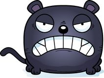 Cartoon Panther Angry Royalty Free Stock Photo