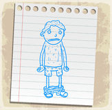 Cartoon  pants off on paper note, vector illustration Royalty Free Stock Images