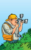 Cartoon paparazzi photographer Royalty Free Stock Images