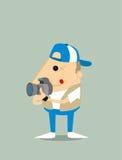 Cartoon paparazzi. Vector illustration background Royalty Free Stock Photos