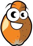 Cartoon papaya isolated illustration Royalty Free Stock Image
