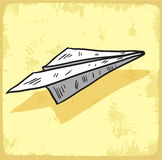 Cartoon paper plane illustration , vector icon. Stock Photos