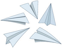 Cartoon paper planes Royalty Free Stock Image