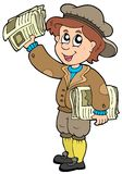 Cartoon paperman Royalty Free Stock Photography