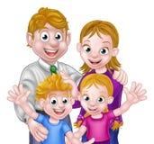 Cartoon Parents and Kids Stock Photo