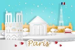 Cartoon paris city. For your travel concept vector illustration