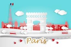Cartoon paris city Royalty Free Stock Image