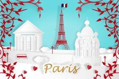 Cartoon paris city. For your travel concept stock illustration