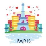 Cartoon Paris eiffel Royalty Free Stock Photo